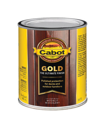 Cabot Gold Satin 3473 Moonlit Mahogany Deck Varnish 1 qt.