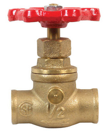 Mueller 1/2 in. x 1/2 in. Stop and Waste Valve Stop and Waste Brass