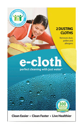 E-Cloth Polyester/Polyamide Dusting Cloth 12-1/2 in. W x 12-1/2 in. L 2 pk