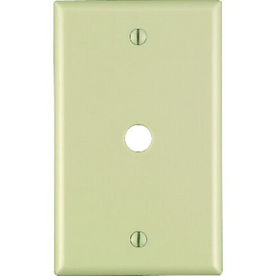 Leviton 1 gang Ivory Thermoset Plastic Cable/Telco Wall Plate 1 pk