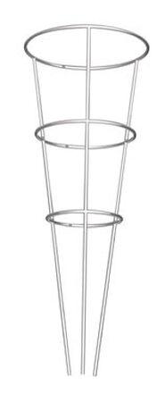 Glamos Gray Galvanized Steel Tomato Cage 33 in. H x 12 in. L x 12 in. W