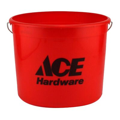 Ace Plastic Bucket 10 qt. Red