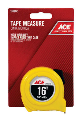Ace Tape Measure 3/4 in. W x 16 ft. L