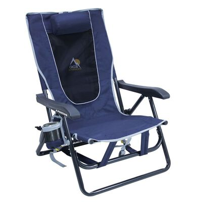 GCI Outdoor Backpack 4 Position Folding Chair Blue