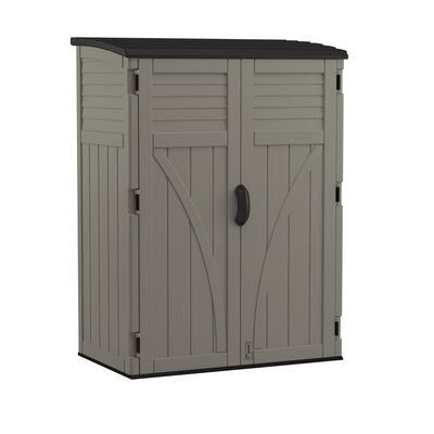 Suncast 6 ft. H x 4.4 ft. W x 2.7 ft. D Gray Resin Storage Shed