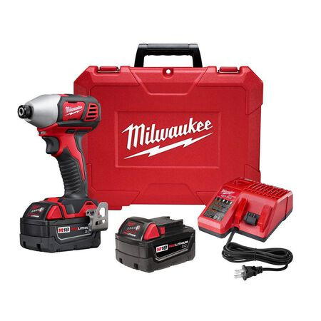 Milwaukee M18 Hex Impact Driver Kit 18 volts 2750 rpm 1500 in-lb 3 450 Cordless Lithium-Ion