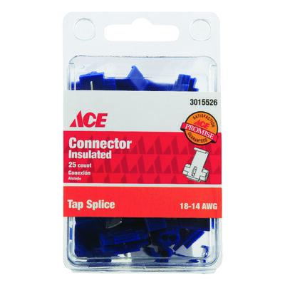 Ace Industrial Tap Splice Connector 25 Vinyl Blue