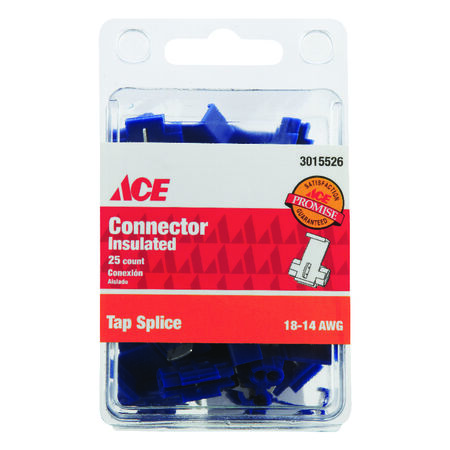 Ace Industrial Tap Splice Connector 25 Vinyl Blue