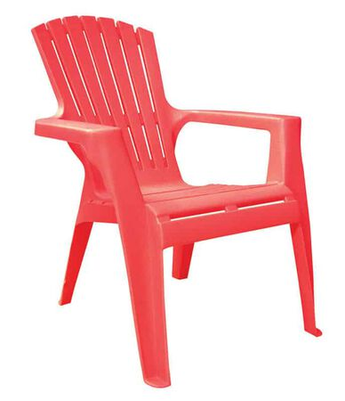 Adams Kids 1 Red Polypropylene Adirondack Chair Red