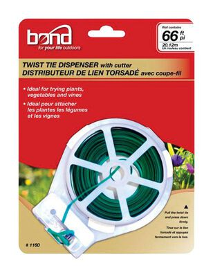 Bond Manufacturing Green Plastic Coated Wire Ties 66 in. L
