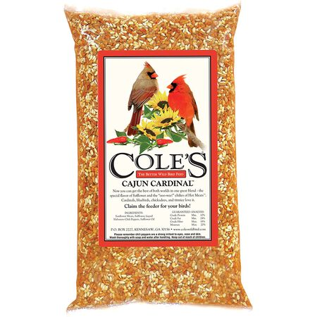 Cole's Cajun Cardinal Assorted Species Wild Bird Food Sunflower Seeds 5 lb.