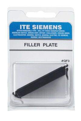 Connecticut Electric ITE Siemens 1 space Surface Single Pole Filler Plate