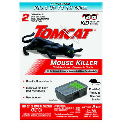 Tomcat Disposable Bait Station For Mice 2 pk