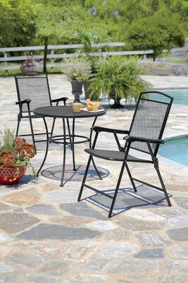 Living Accents Seville 1 Position Folding Chair Black