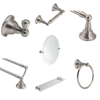 Moen Wall Brushed White Bathroom Mirror