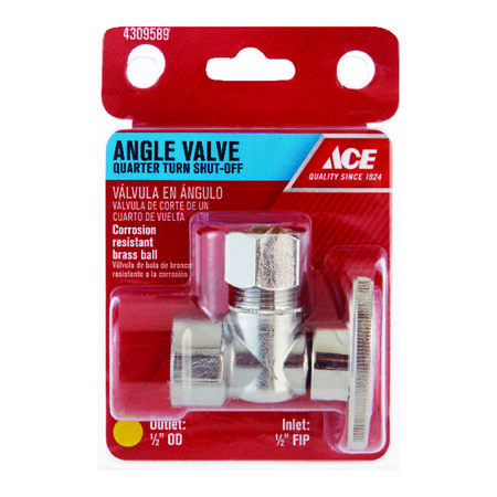 Ace 1/2 in. Dia. x 1/2 in. Dia. Ball Shut-Off Valve Brass