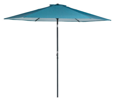 Living Accents Eastport 9 ft. Tiltable Blue Market Umbrella