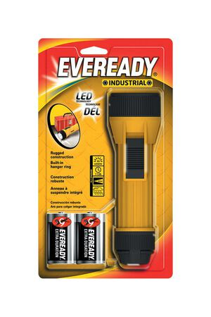 Energizer Eveready 35 lumens Flashlight LED D Black/Yellow