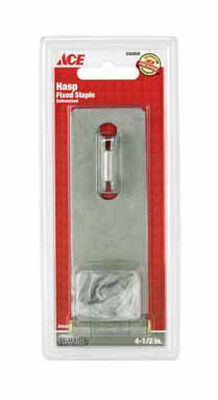 Ace Galvanized Steel Fixed Staple Safety Hasp 4-1/2 in. L