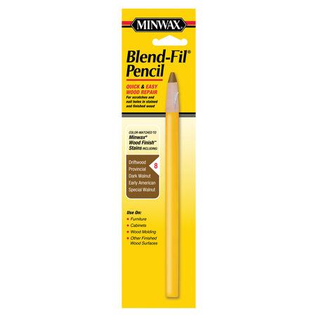 Minwax Blend Fil No. 8 Dark Walnut, Driftwood, Early American, Provincial Wood Pencil 1 oz.