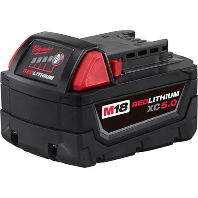 Milwaukee M18 XC5.0 18 volts Red Lithium Battery Pack