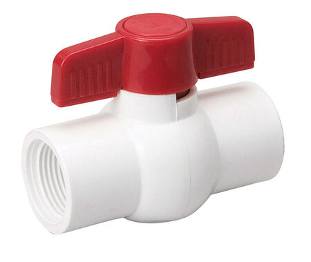 KBI King Brothers Ball Valve 1-1/2 in. FPT x 1-1/2 in. Dia. FPT PVC Economy