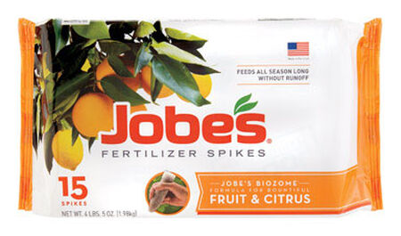 Jobe's Fertilizer Spikes For Fruit and Citrus Trees 15 pk