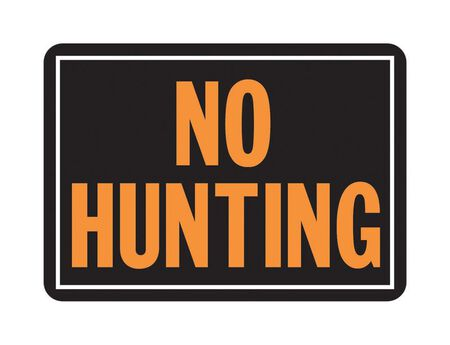 Hy-Ko English 10 in. H x 14 in. W Aluminum Sign No Hunting