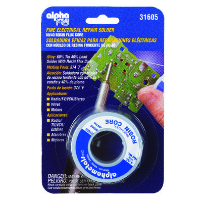 Alpha Fry 4 oz. Rosin Core Solder Tin / Lead 60% Tin 40% Lead