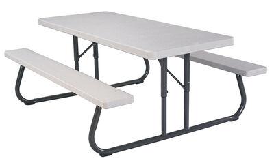 Lifetime Folding Picnic Table Grey