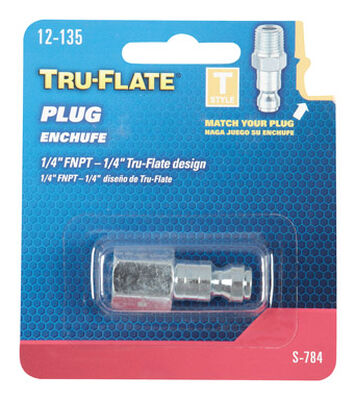 Tru-Flate Steel Air Plug 1/4 in. FNPT Female T