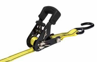 Keeper Polyester Standard Tie Down 16 ft. L 1500 lb. Double J Hooks Gray