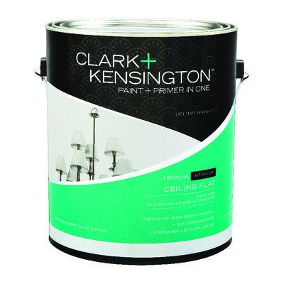 Clark+Kensington Flat Acrylic Latex Paint & Primer Low VOC Ceiling White 1 gal.