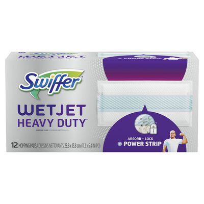 Swiffer WetJet Heavy Duty 11.3 in. W x 5.4 in. L Cloth Refill Pad 12 count