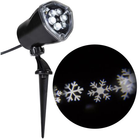 Gemmy Lightshow Snowflurry LED Light Show Projector White 4 lights