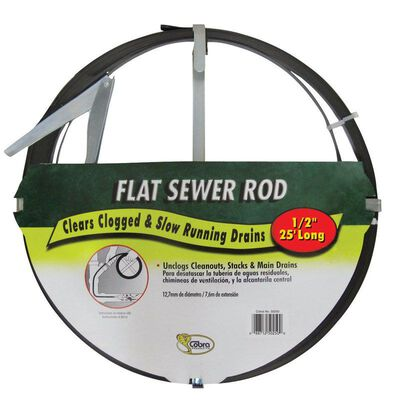 Cobra 1/2 in. Flat Steel Sewer Rod 25 ft. L
