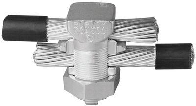 Burndy Tritap Servit Split Bolt Connector Silver 3/16 in. Dia. 1 pk