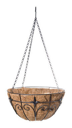 Panacea Black Steel Hanging Basket