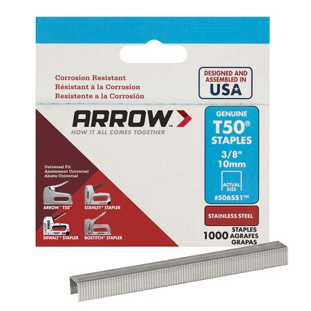 Arrow T50 Narrow Heavy Duty Staples Gray 3/8 in. L