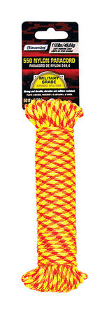 SecureLine 5/32 in. Dia. x 50 ft. L Braided Nylon Paracord Yellow/Orange