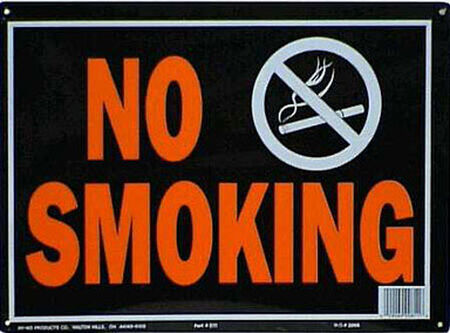 Hy-Ko English 10 in. H x 14 in. W Aluminum Sign No Smoking