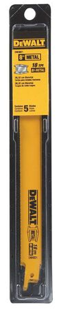 "8"" 18 TPI Straight Back Bi-Metal Reciprocating Blade (5 pack)"