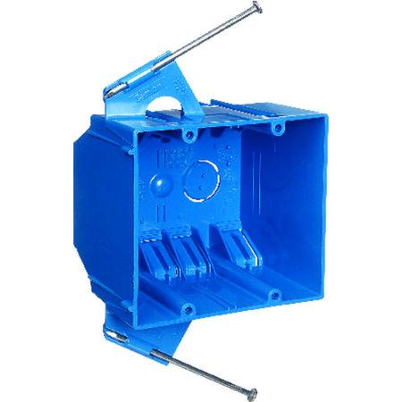 Carlon 3-3/4 in. H Rectangle 2 Gang Outlet Box Blue PVC
