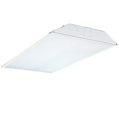 Lithonia Lighting GT4 48 in. L x 3-3/16 in. H x 24 in. W Fluorescent Light Fixture T8 Troffer