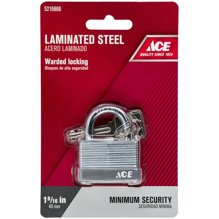 Ace 1-1/2 in. Warded Locking Padlock