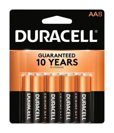 Duracell Coppertop AA Alkaline Batteries 1.5 volts 8 pk