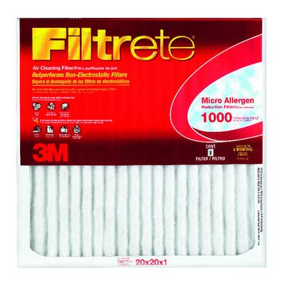 3M Filtrete 20 in. W x 20 in. L x 1 in. D Air Filter