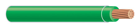 Southwire 500 ft. 4 Ga. THHN Stranded Wire Green - Sold by the foot