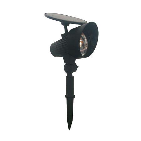 Living Accents Black Solar Powered LED Spotlight 1 pk