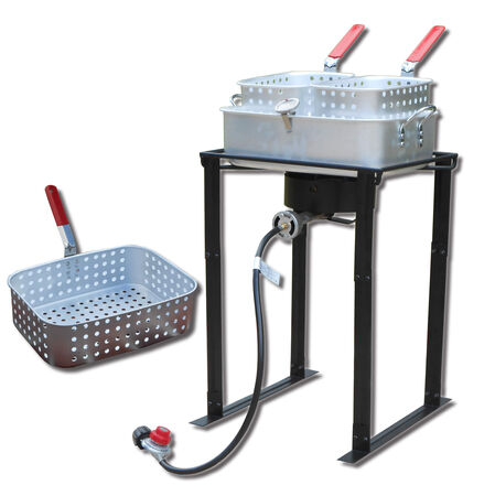 "King Kooker 24"" Double Basket Outdoor Fryer"